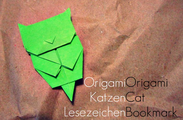 origami katzen lesezeichen caromite. Black Bedroom Furniture Sets. Home Design Ideas